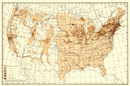 USA: Density of natives of Great Britain: , 1900 map